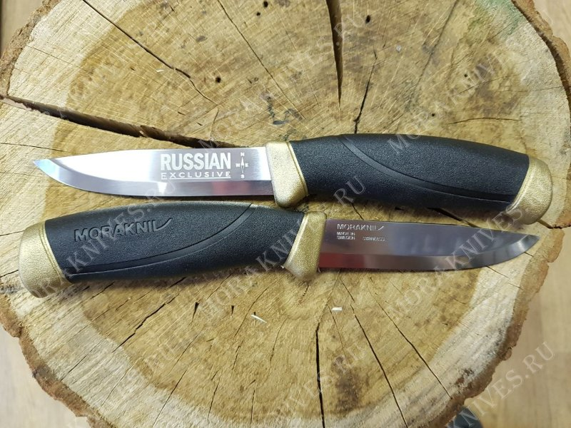 Нож Morakniv Companion Russian Exclusive Black-Gold, нержавеющая сталь, 13643